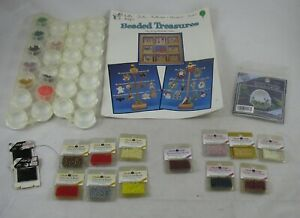 Mill Hill 12 pk Glass Bead LOT Sheep Egg Kit + Pattern Booklet & 2 Storage Trays