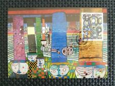 ONU NY MK 1983 centinaia di acqua maximum carta carte MAXIMUM CARD MC cm c5123