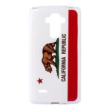 For LG G Stylo LS770 - TPU RUBBER GUMMY GEL SLIM CASE COVER CALIFORNIA BEAR FLAG