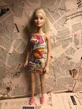 Barbie doll refurbished - Mini dress and pony tail