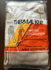 Vintage Womens Thermal Knit Winter Underwear Size X-Large Nos