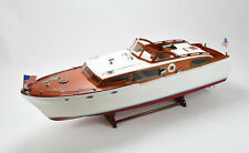"Chris Craft Corvette Handmade Wooden Classic Boat Model 48"" Rc Ready"