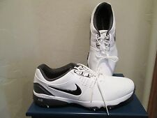 NIKE GOLF AIR RIVAL III WHITE BLACK TRIM MENS SHOES SIZE 9 MEDIUM WIDTH NEW