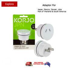Korjo Travel Adaptor from Australia/NZ to Japan, USA, Canada, Mexico