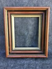 Antique 1800's Victorian Mahogany Deep Recessed Picture Frame Fits 10x8 No Glass