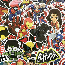 50 Pcs/Lot Stickers  Avengers Super Hero For Car Laptop Skatboard Decal