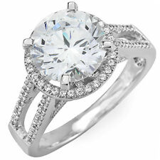 Diamond Engagement Ring 4.00 Carat GIA Certified Platinum Round Brilliant Cut