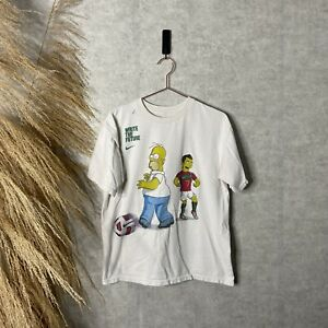 2010 Cristiano Ronaldo The Simpsons Nike World Cup White Promo T-Shirt