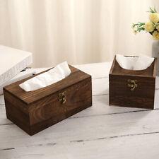 JW_ Wooden Tissue Box Paper Napkin Holder Dispenser Case Bathroom Office Desk