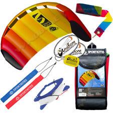 HQ 1.3M 1.3 Symphony Beach III Foil Kite w/Straps Mango + 20' Stunt Display Tail