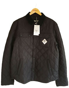 Barbour Beacon Quilted Jacket Akenside Mens Size Large Black 100% Genuine New