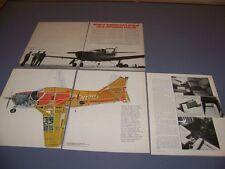 VINTAGE..AERO COMMANDER 112 ..HISTORY/PHOTOS/SPECS/CUTAWAY..RARE! (952L)
