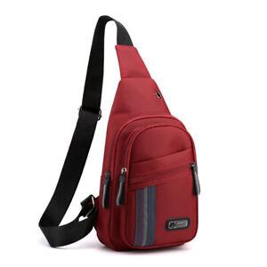 Men Women Shoulder Bag Sling Crossbody Chest Nylon Travel Casual Backpack