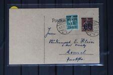 Memel 35, 55 auf Postkarte als Mischfrankatur #BB197