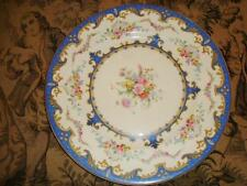 "BLUE Myott Staffordshire SEVRES 10 1/2"" Dinner Plate - Signed Roberts"
