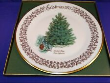 Vintage 1977 Lenox Commemorative Plate Scotch Pine Christmas Tree Made Usa
