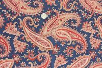 Antique 19thC American Indigo & Printed Red Paisley Cotton Fabric~Bandana,Quilts