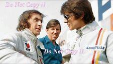 Francois Cevert & Jackie Stewart Tyrell F1 Portrait 1973 Photograph 3