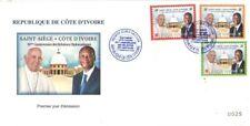 2020 50° relazioni diplomatiche con Vaticano - Costa d'Avorio - fdc 3v
