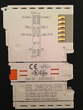 Beckhoff EL2622, 2 x Relay. up to 230V AC/DC. 2A Switching Current Induct