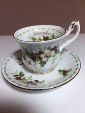 Royal Albert December CHRISTMAS ROSE  Tea Cup & Saucer Miniature