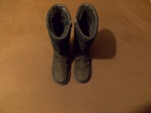 ugg australia black 1890 tall winter boots size 8. used