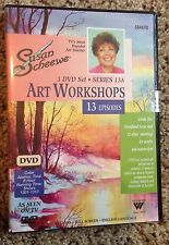 Susan Scheewe Brand NEW 3-DVD (6 Hours) Set-13A Episodes Watercolor & Acrylic