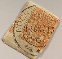 1900's HUNGARY NEWSPAPER STAMP WITH NOGRAD BULLSEYE SON CANCEL