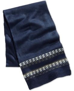 Club Room Men's Knit Scarf in Navy, Retail $42.00