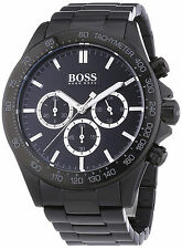 Hugo Boss 1512961 Men's Black Black Stainless Steel  Band with Black Dial Watch