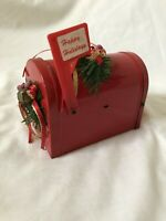 Lot of 3 Vintage Christmas Holiday Music Boxes Santa Mailbox Angel