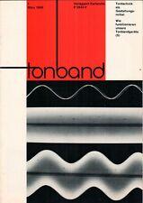 TONBAND - Zeitschrift Magazin 1 / 1966 - Audio Aufnahmen Technik - B16401
