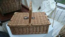 Vintage Wicker Picnic Basket inc plates/cutlery
