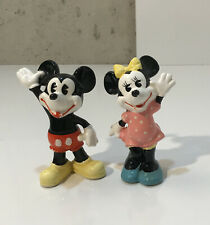 Vintage Porcelain Disney Mickey & Minnie Mouse Figure Made In Japan