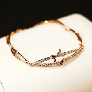 18K Gold Plated Diamante Crystal Bracelet Bangle
