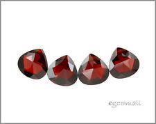 6 CZ Flat Pear Briolette Beads 8x8mm Garnet Red #64600
