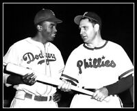 Jackie Robinson Ben Chapman Photo 8X10 Brooklyn Dodgers Racist Phillies Movie 42