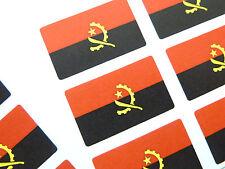 Mini paquete de pegatinas, Autoadhesiva Angola Bandera Etiquetas, Fr60