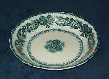 "Antique Wood & Son Madras Blue Green Soup Bowl s 7 1/2"""