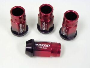 20PC LEXUS IS300 IS250 RACING LUG NUTS 12X1.5 RED BLACK