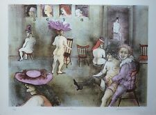 """Vintage MARCIA MARX  """" Musical Chairs """" S/N Lithograph"""