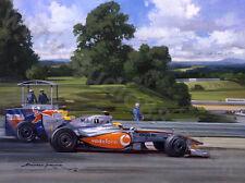 Art Card 2009 Hungarian GP Hungaroring, McLaren Hamilton, door Michael Turner