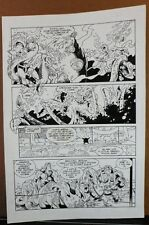 HAMMER OF GOD: PENTATHALON #1 PG. 13 1994 ORIGINAL ART-NEIL VOKES & JAY GELDHOF Comic Art