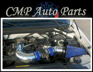 BLUE  COLD AIR INTAKE KIT FIT 97-03 FORD F-150 F150 F-250 Expedition 4.6L 5.4L
