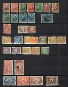 Canada lot used Revenue stamps, Bill stamps, War Tax, Law, excise