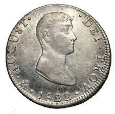 Mexico, 8 Reales, 1822 Mo JM, Agustín de Iturbide