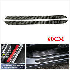 2pcs 60cm Car Door Scuff Plate Sill Cover Panel Step Protector Real Carbon Fiber