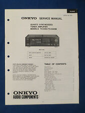 ONKYO TX-840 M TUNER AMP SERVICE MANUAL ORIGINAL FACTORY ISSUE THE REAL THING