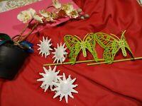 lot embrases rideaux==== fer papillons verts   et  soleils et   orchidée décor