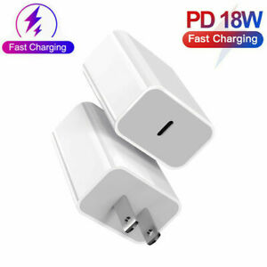 Type-C 18W Power Block Adapter Charger For Apple iPhone 12 11 PRO Fast Charging